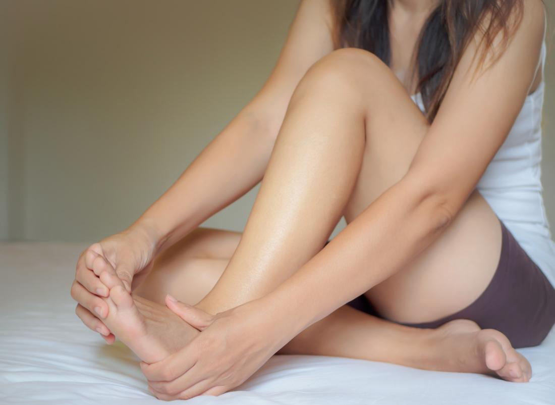 girl with painful foot