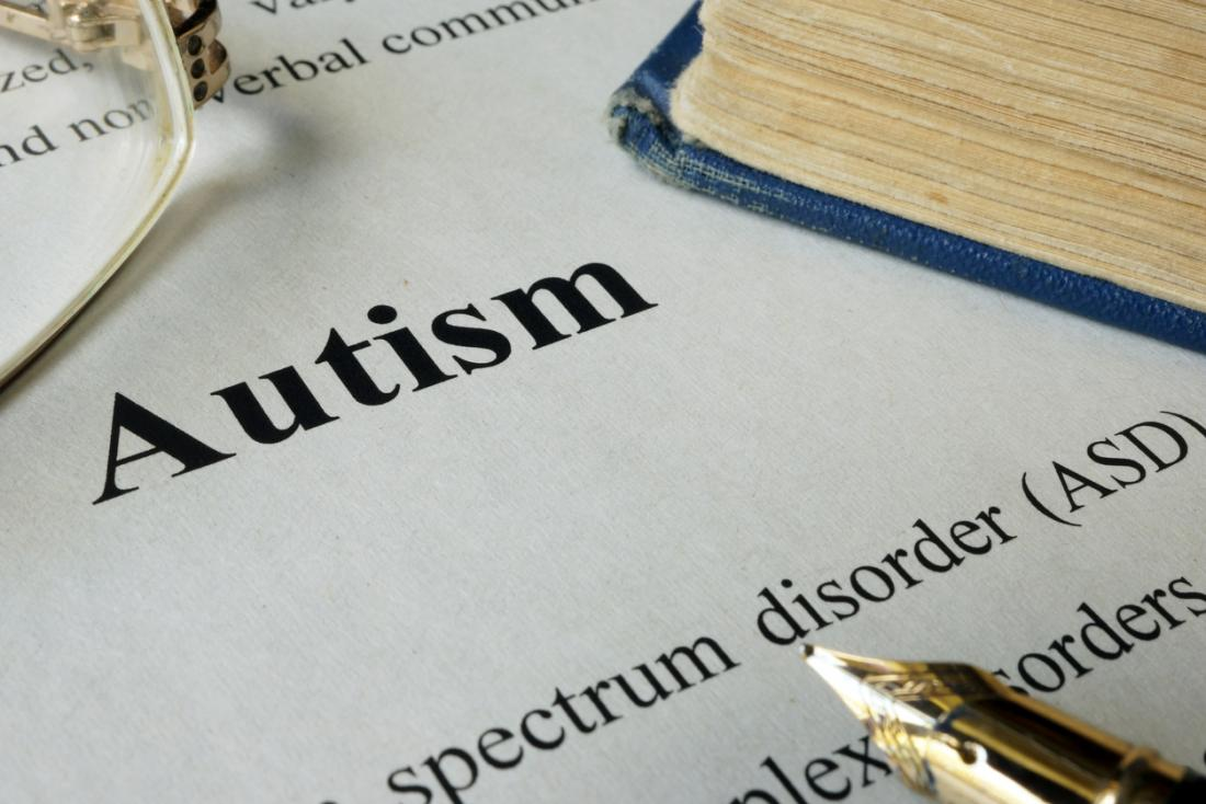 page with definition of autism