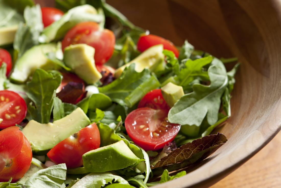 salad with avocados and tomatoes