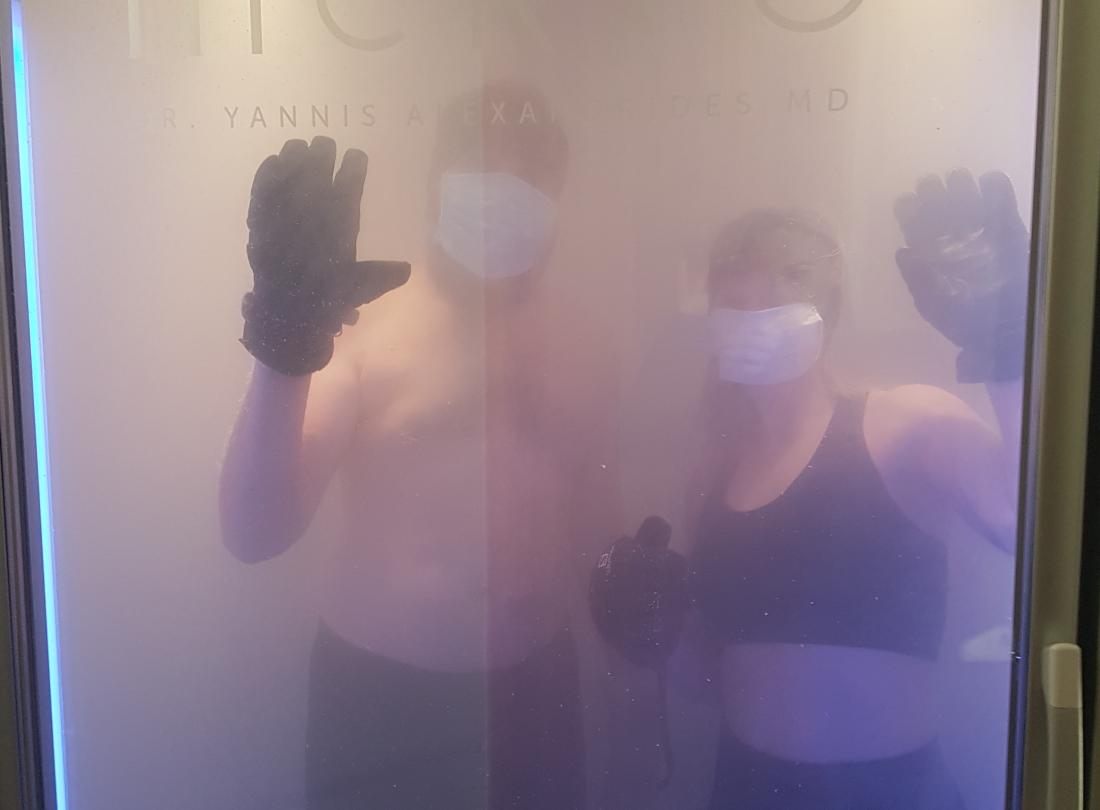 Tim and Marie cryochamber
