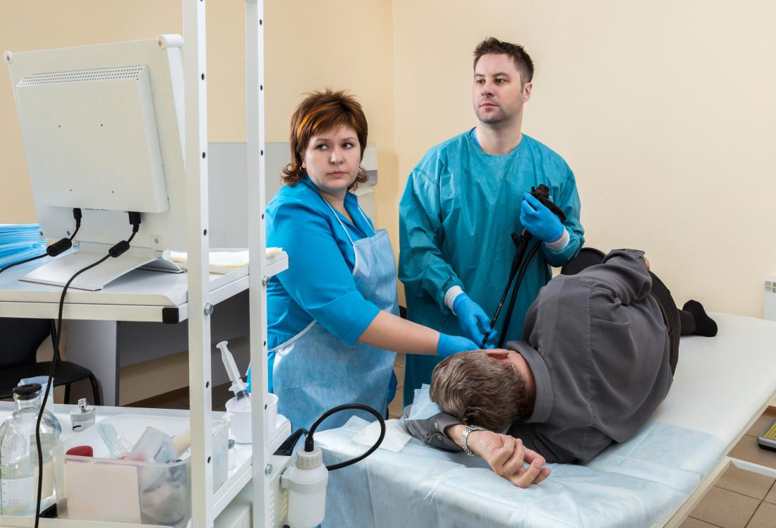 man having an endoscopy