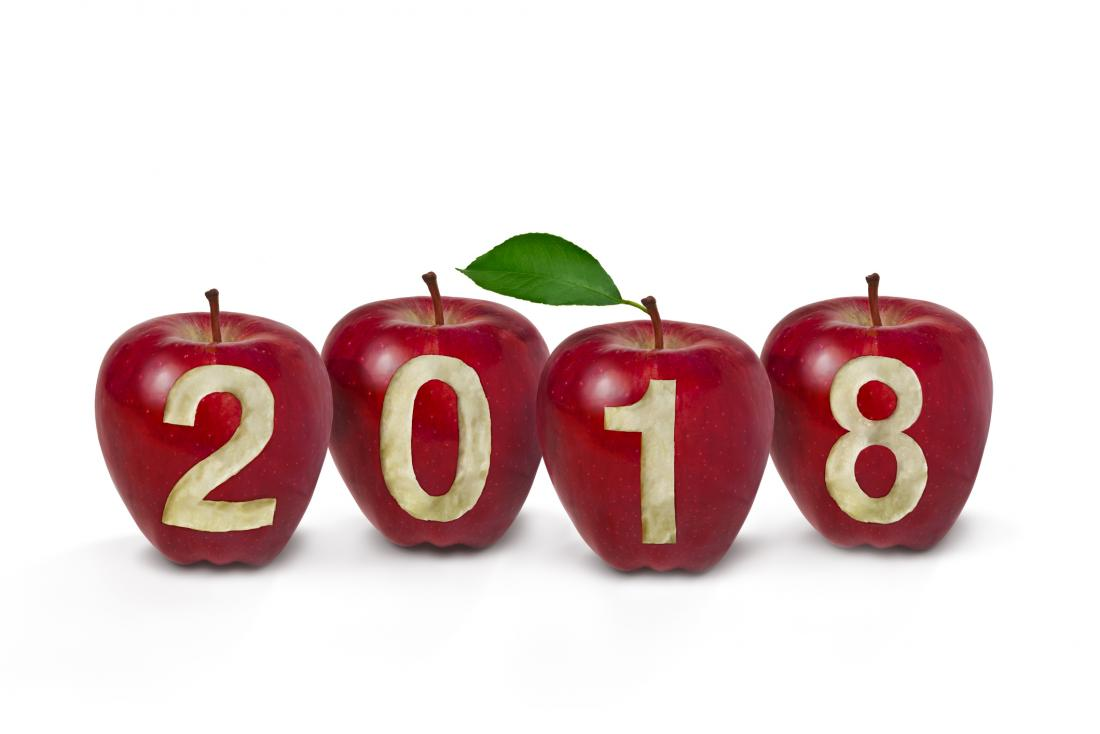 Apples with 2018 engraved