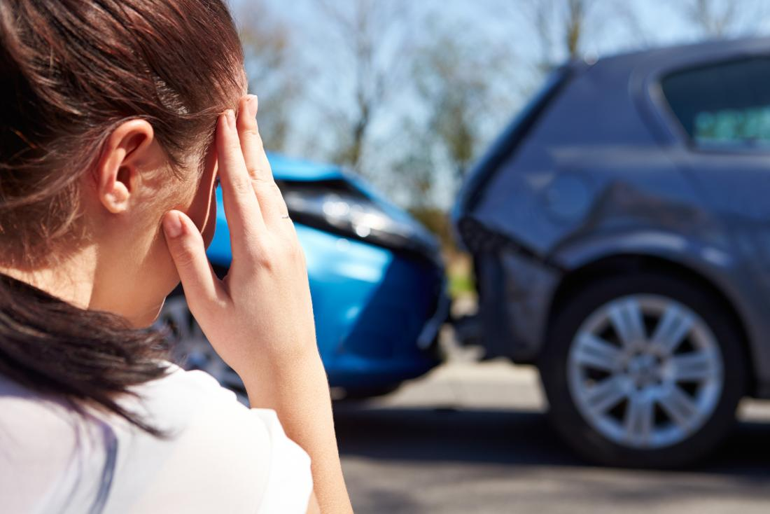 Woman after car crash who has conversion disorder