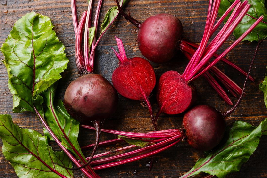 Beets on a table. They may help with ed