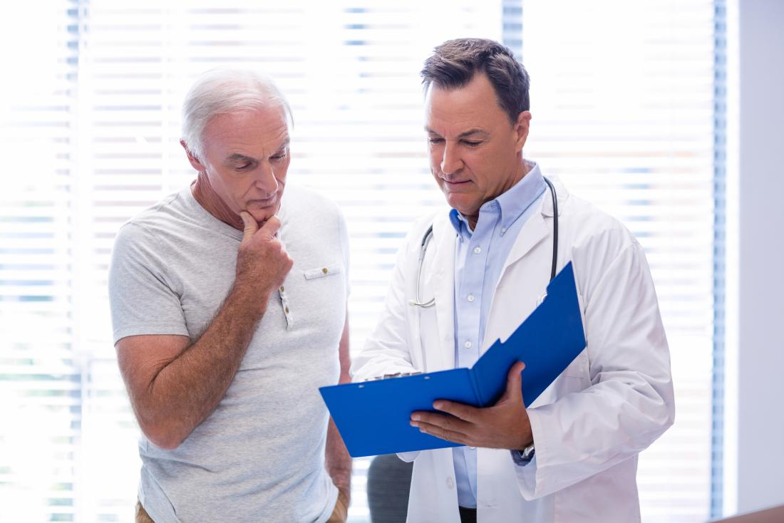 Doctor and patient consulting.