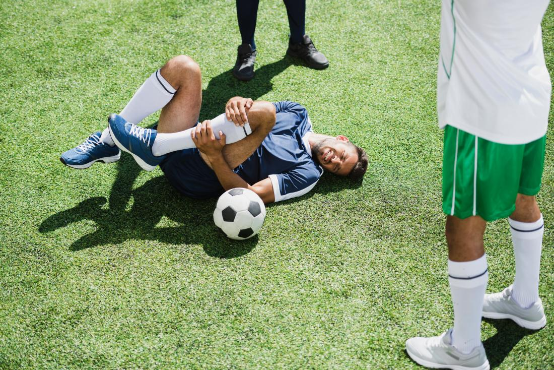 A sports injury may cause myositis ossificans