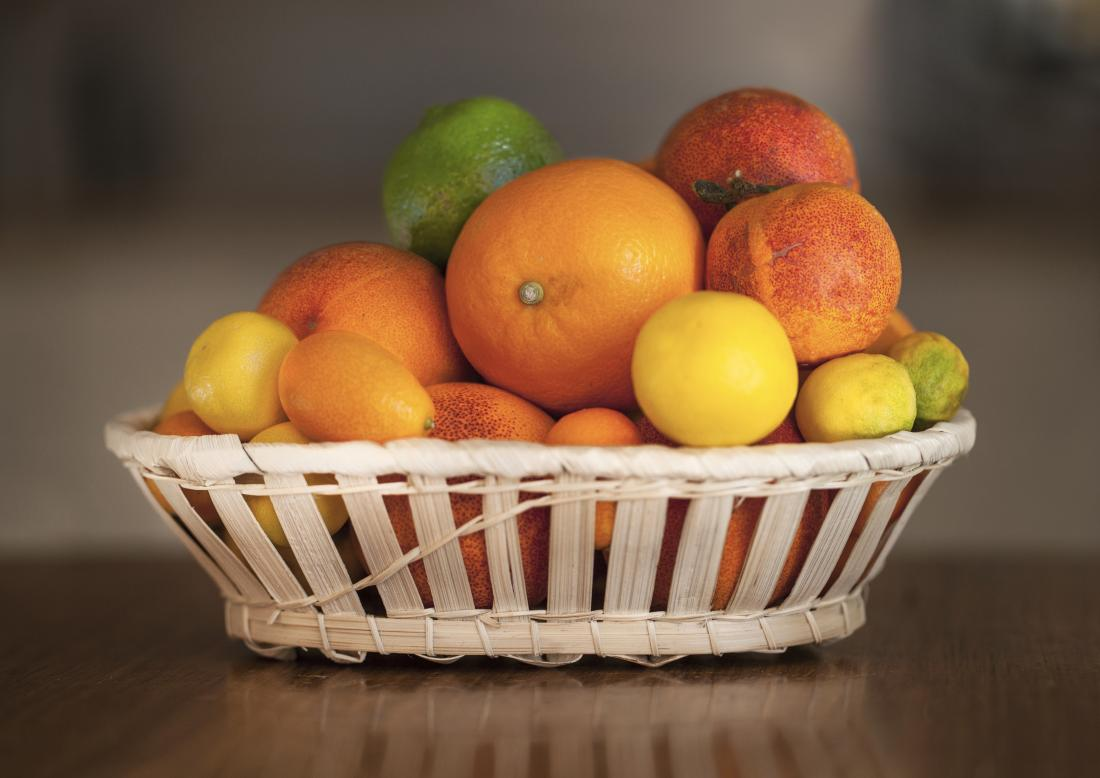 basket of citrus fruits
