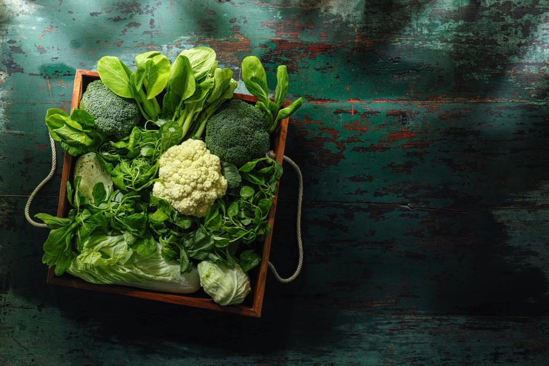 basket of cruciferous vegetables
