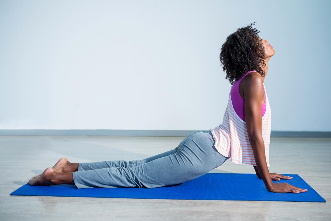 Cobra Pose or Bhujangasana yoga pose.