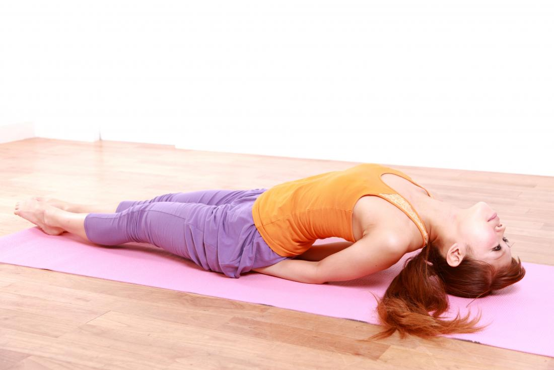 Fish Pose or Matsyasana yoga pose.