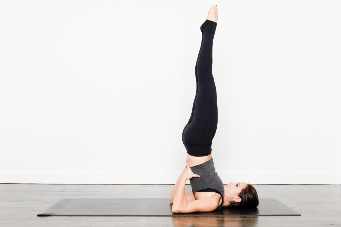 Yoga pose supported shoulder stand