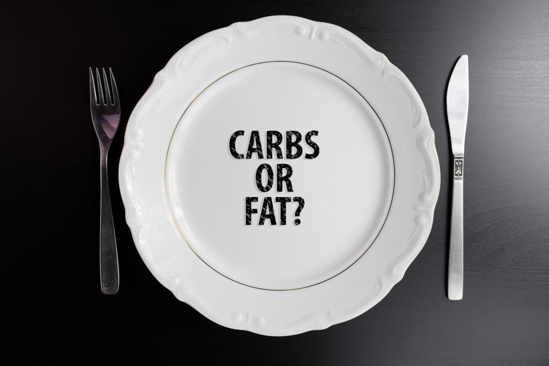 carbs or fat concept illustration