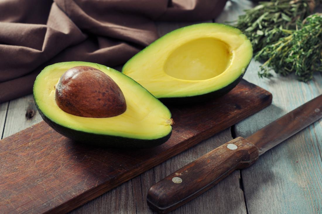 Avocado cut open which may lower insulin
