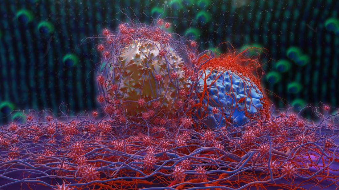 cancer cells dividing concept