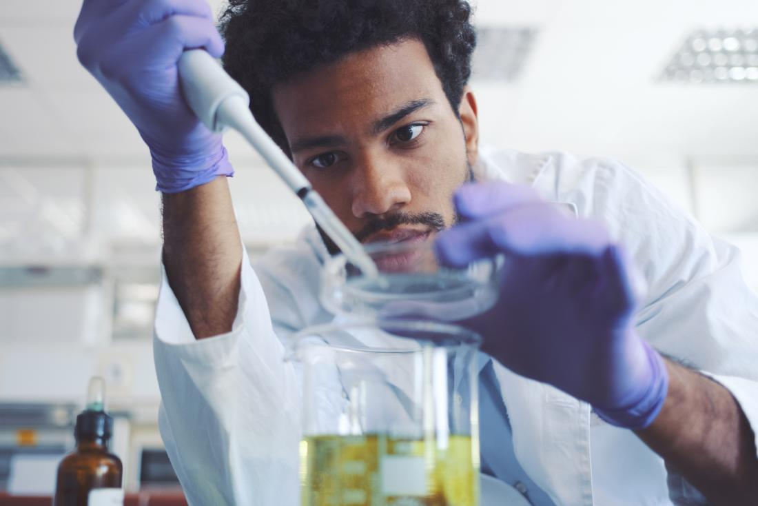 Young scientist working in a lab