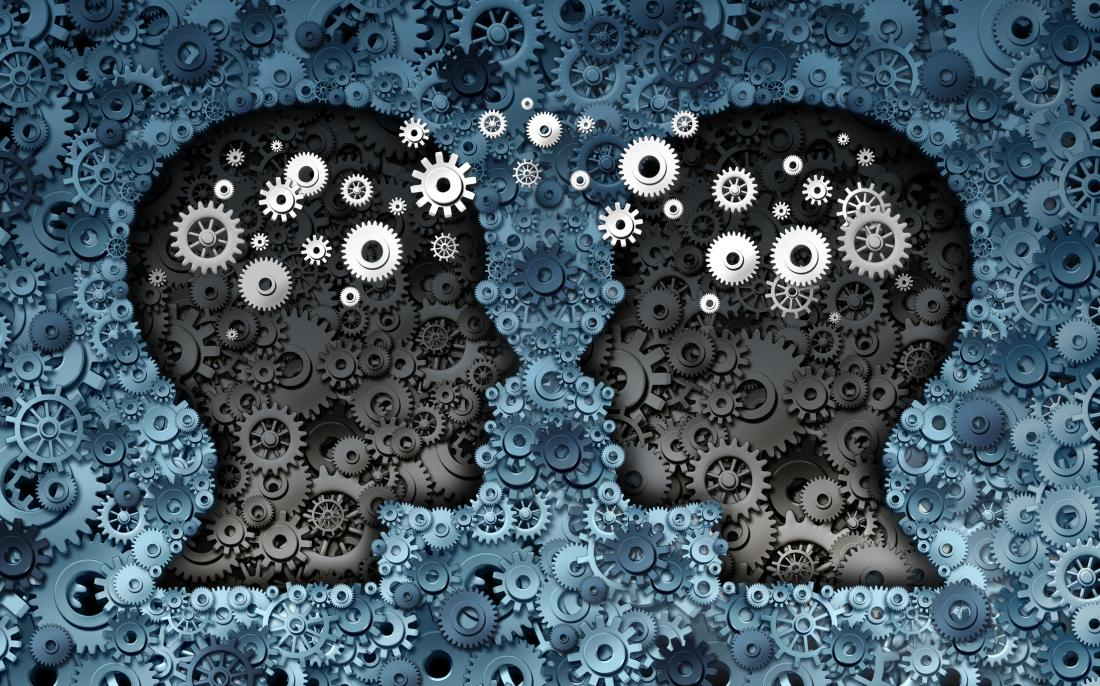 two brains with cogs