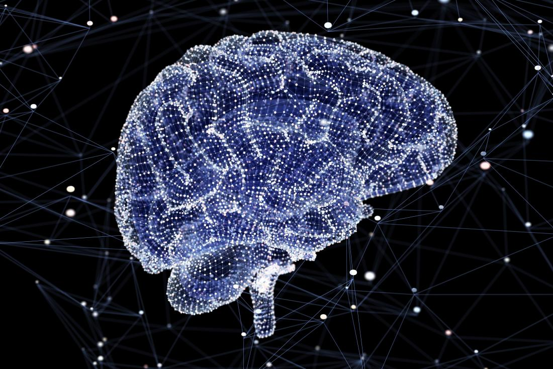 How much of the brain is used represented by digital render of brain activity.