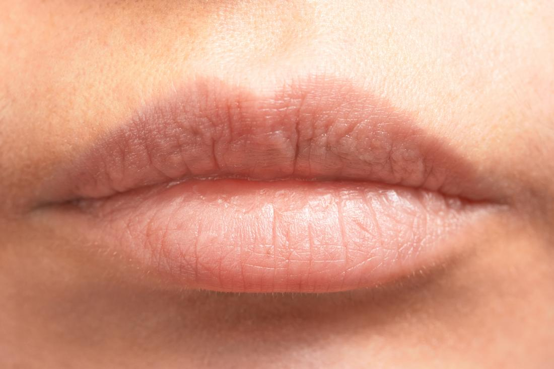 close up of bare lips