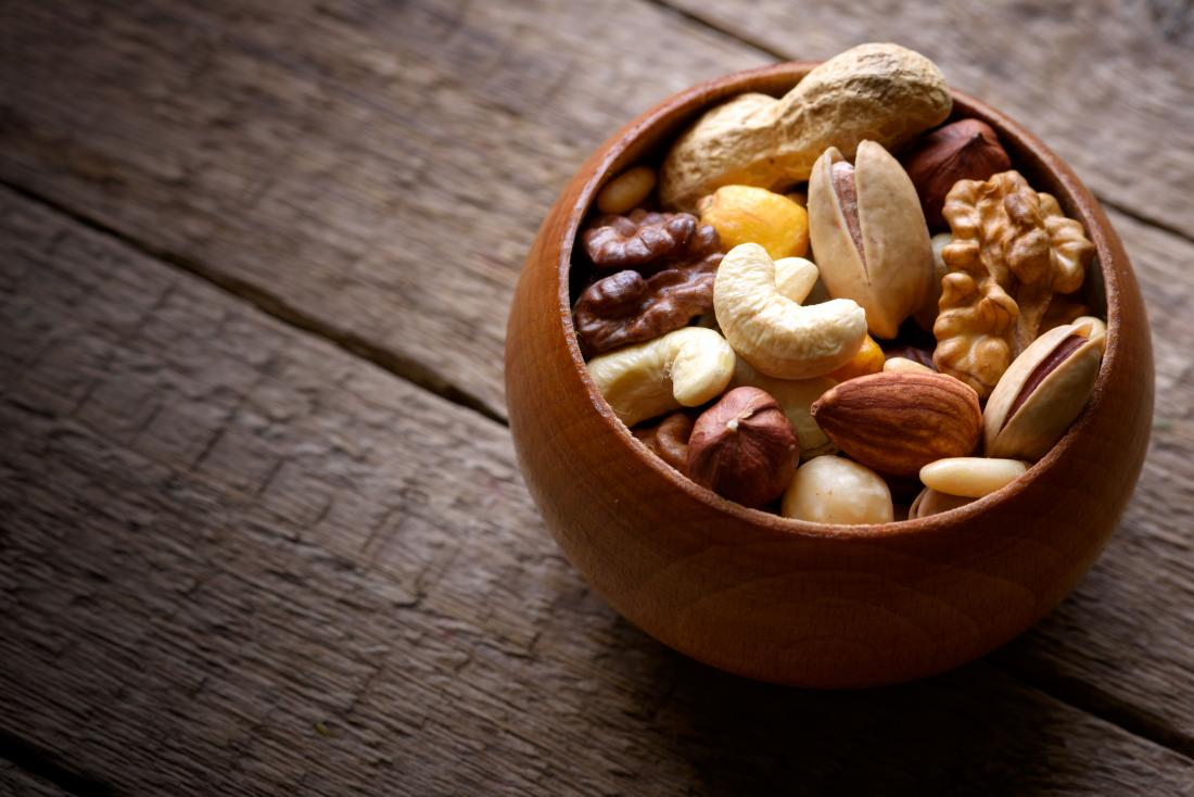 bowl of tree nuts