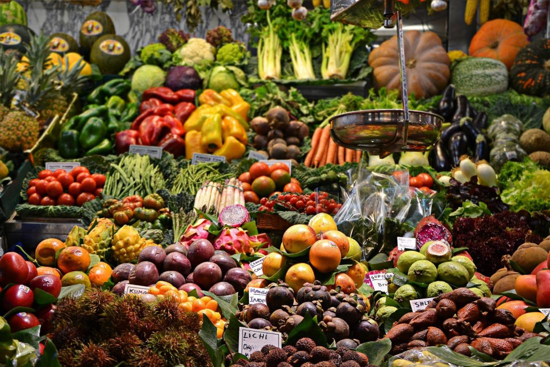 colorful fruit and veg
