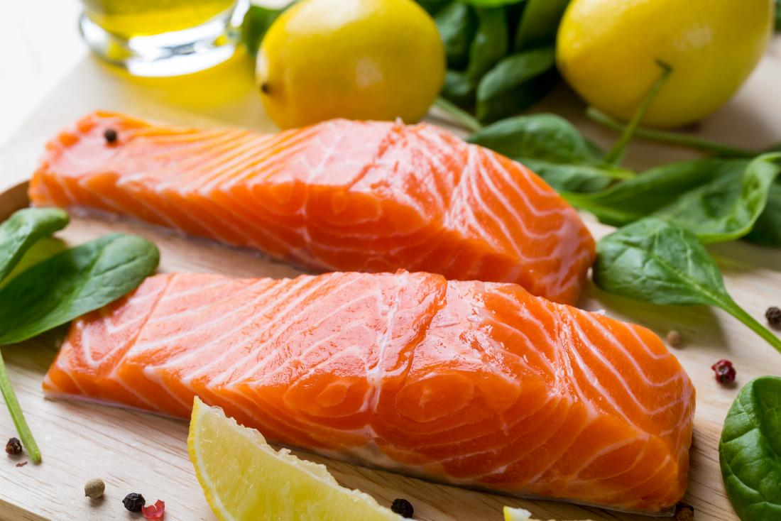 Image of salmon fillet which may be recommended for Hashimoto diet