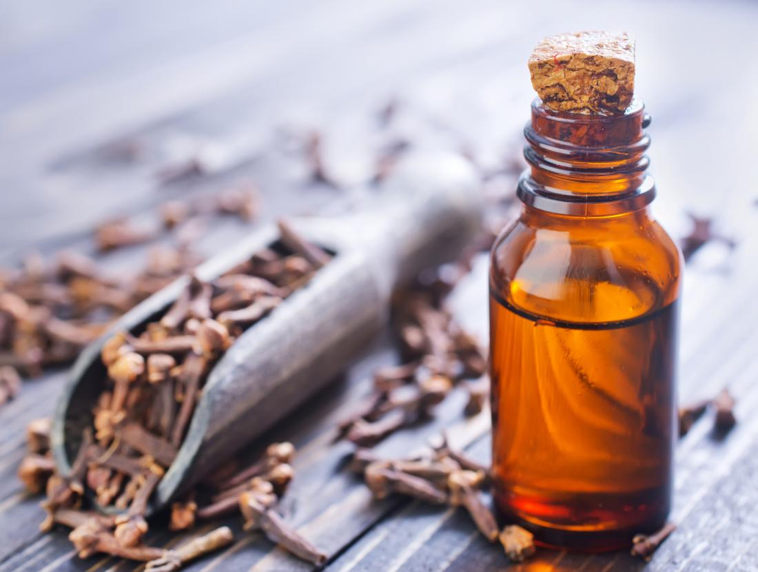 Clove oil which is used for toothache