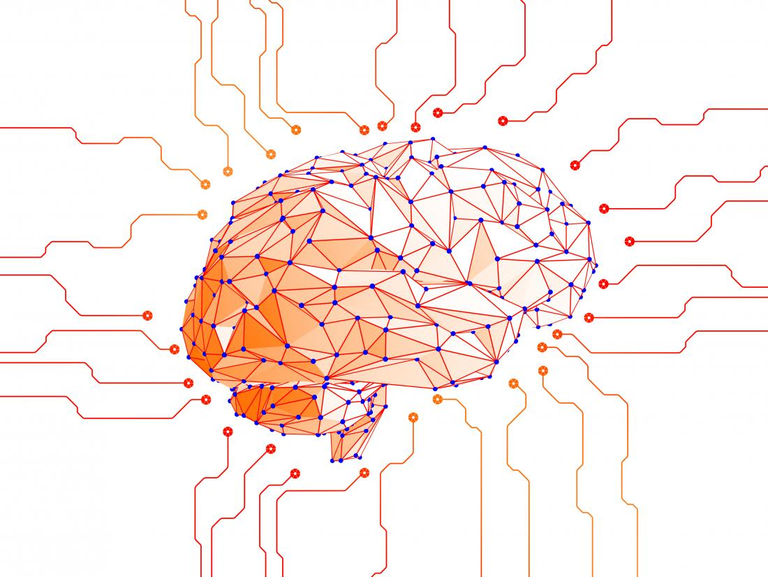 Brain wire network illustration