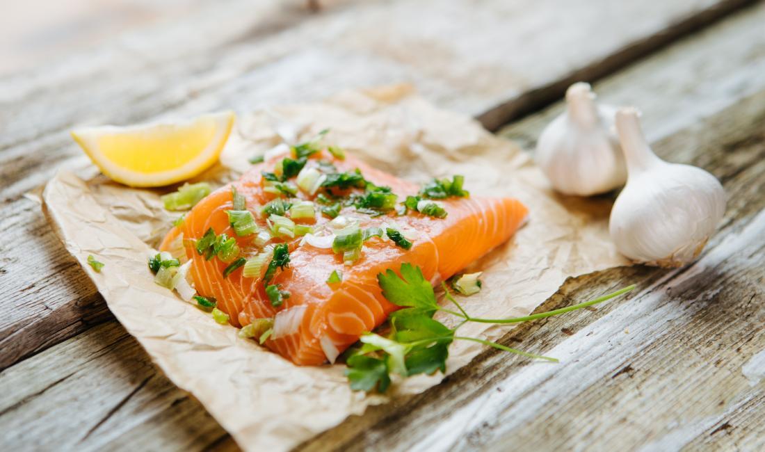 Продукты для набора веса лосось