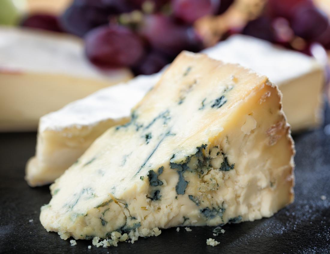 Blue cheese is a food high in vitamin k