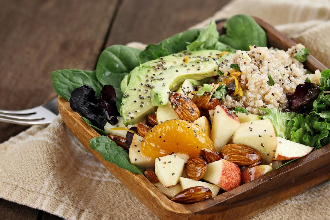 vegetable fruit and nut salad