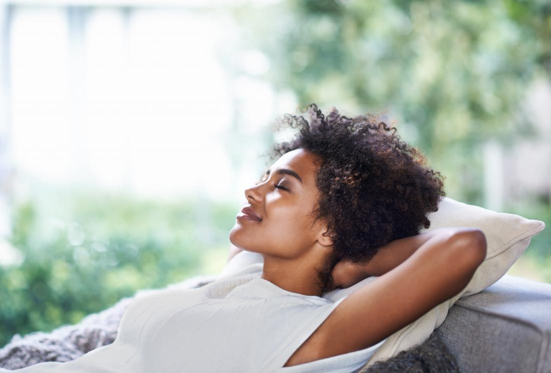 Woman resting having a nap
