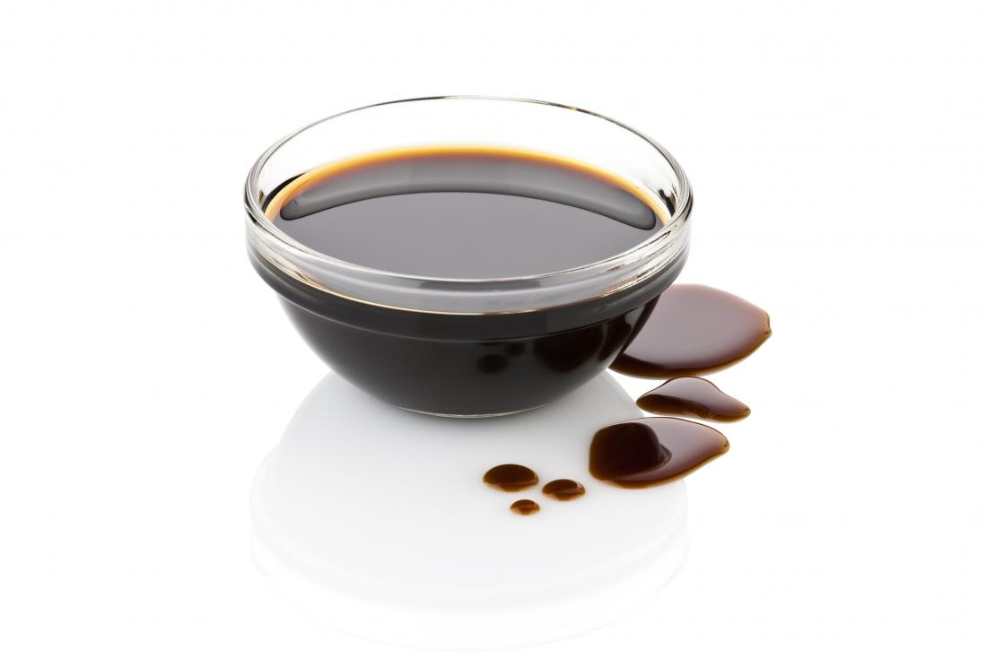 Balsamic vinegar in a small glass