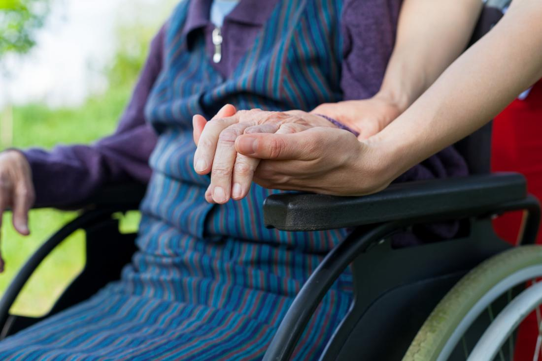 Older adult in wheelchair