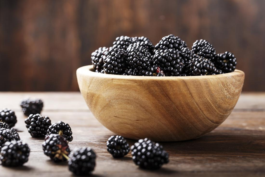 Blackberries in a bowl.