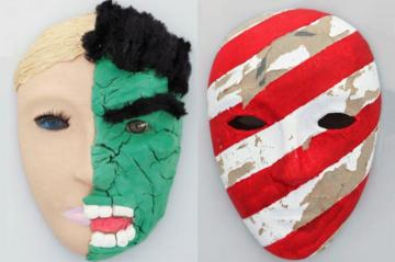 art therapy masks created by tbi patients
