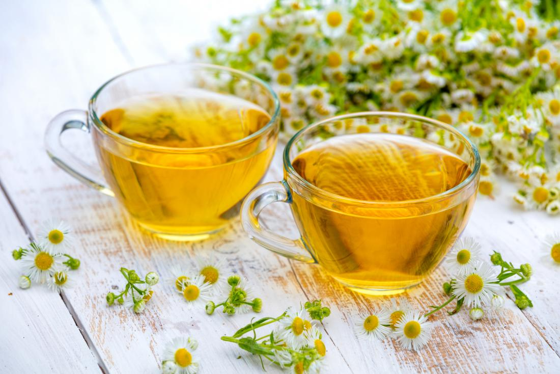 two cups of chamomile tea