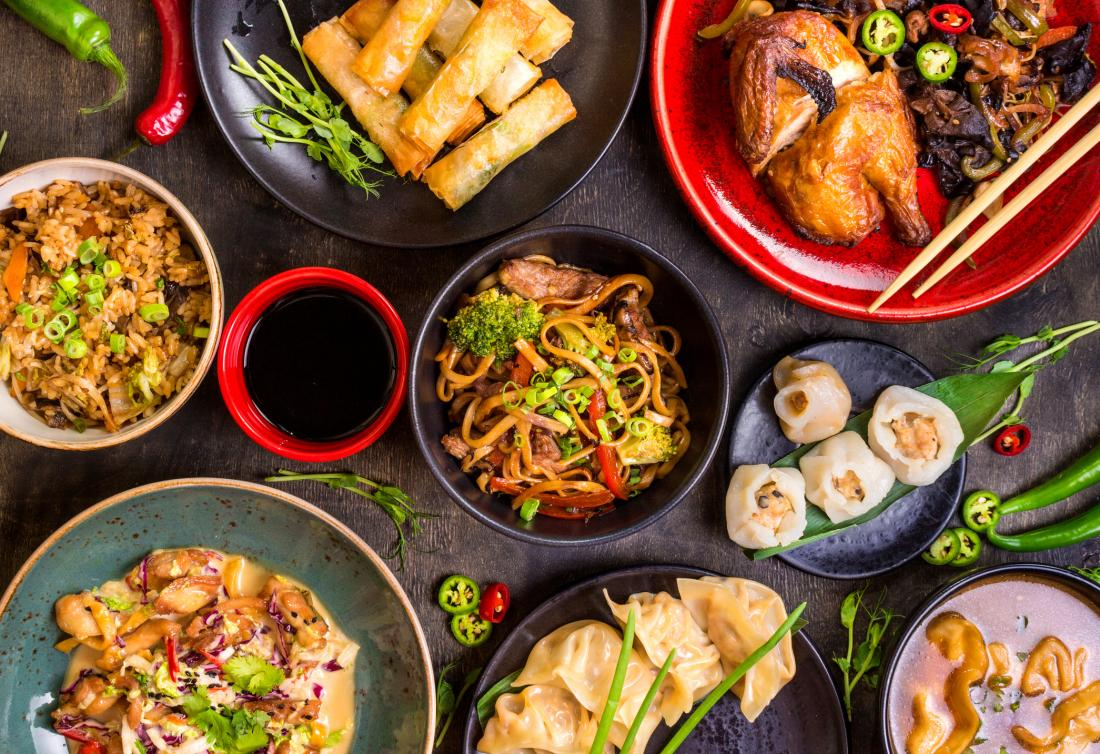 Selection of Chinese food that may cause Chinese restaurant syndrome