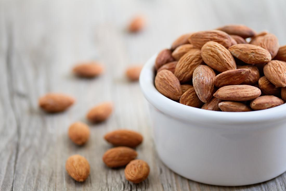 Natural blood thinners almonds