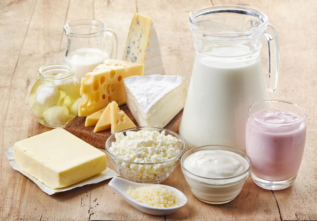 a range of fresh dairy products