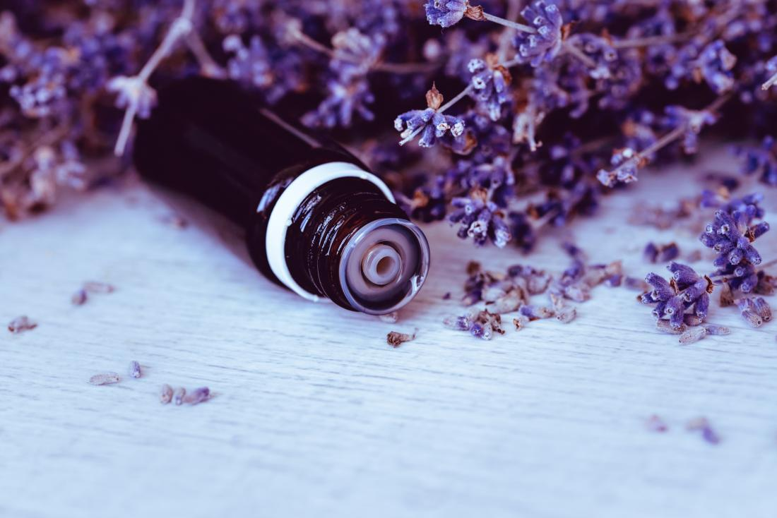 Lavender oil which is an essential oil for babies