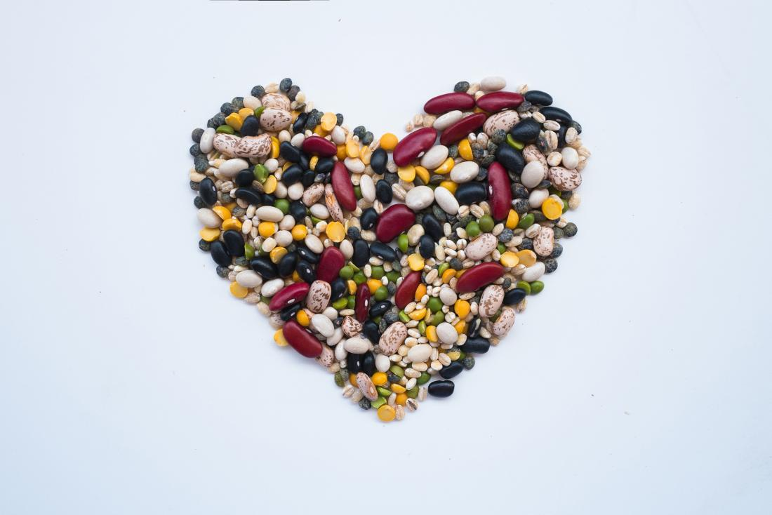 legumes in the shape of a heart