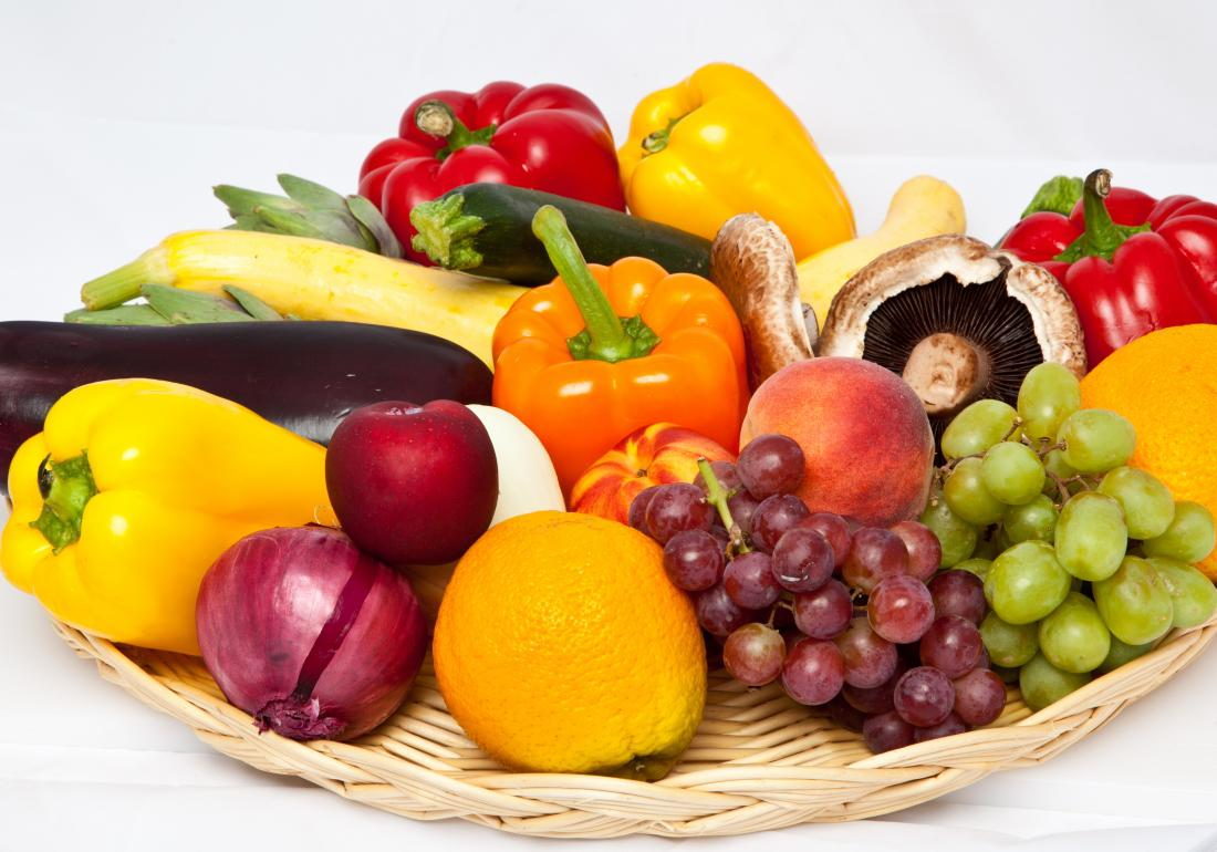 Fruit and veg for a low-purine diet