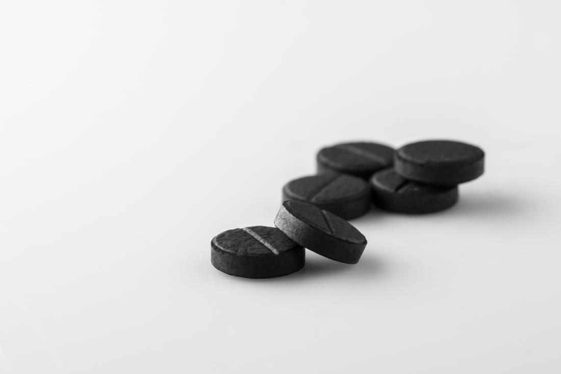 Black activated charcoal tablets.