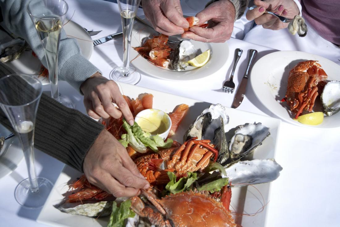 a shellfish meal