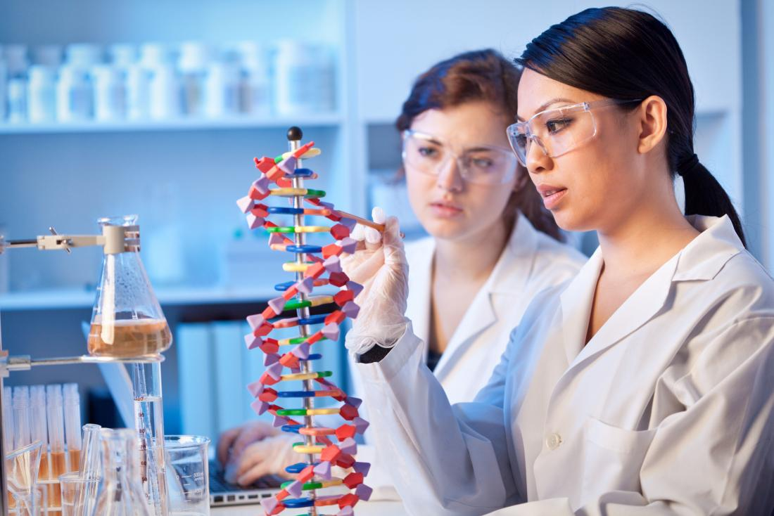 female genetic scientists in a lab