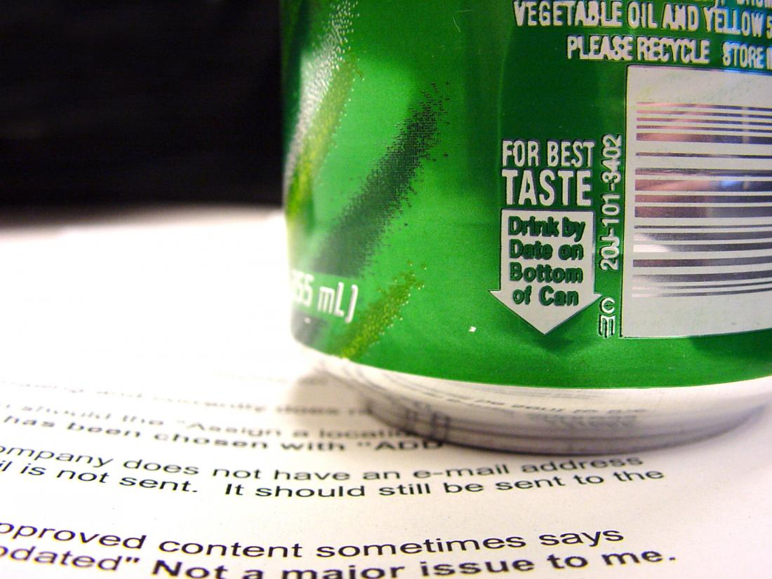 close up of green soda can