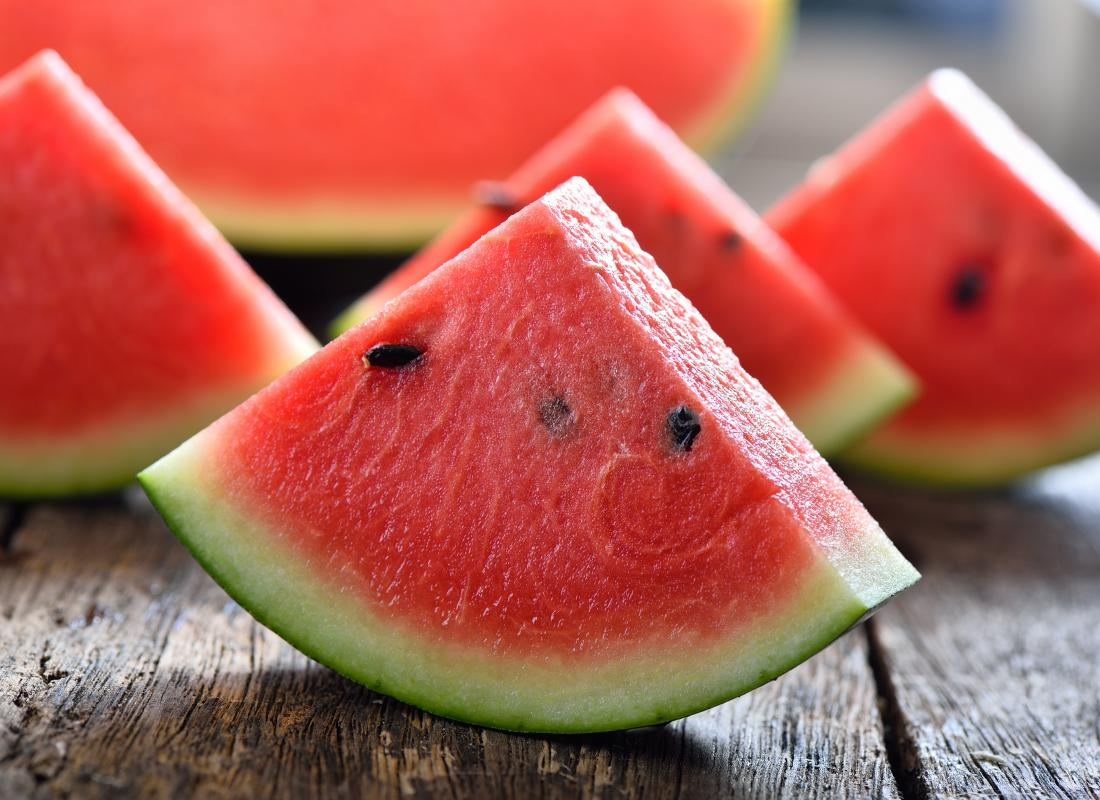 Watermelon slices to represent allergy