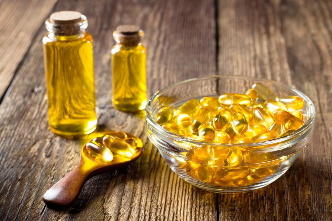 Omega-3 fatty acid supplements and fish oil.