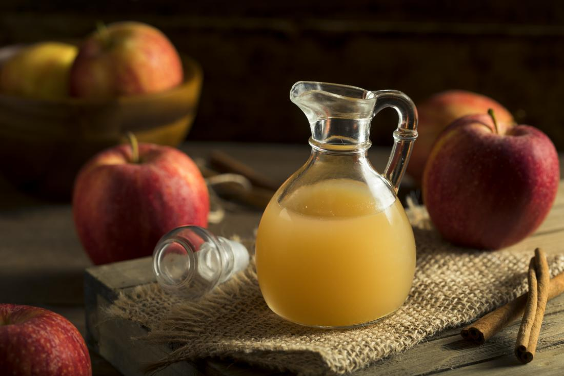 Apple cider vinegar can help balance the skin's acidity levels.