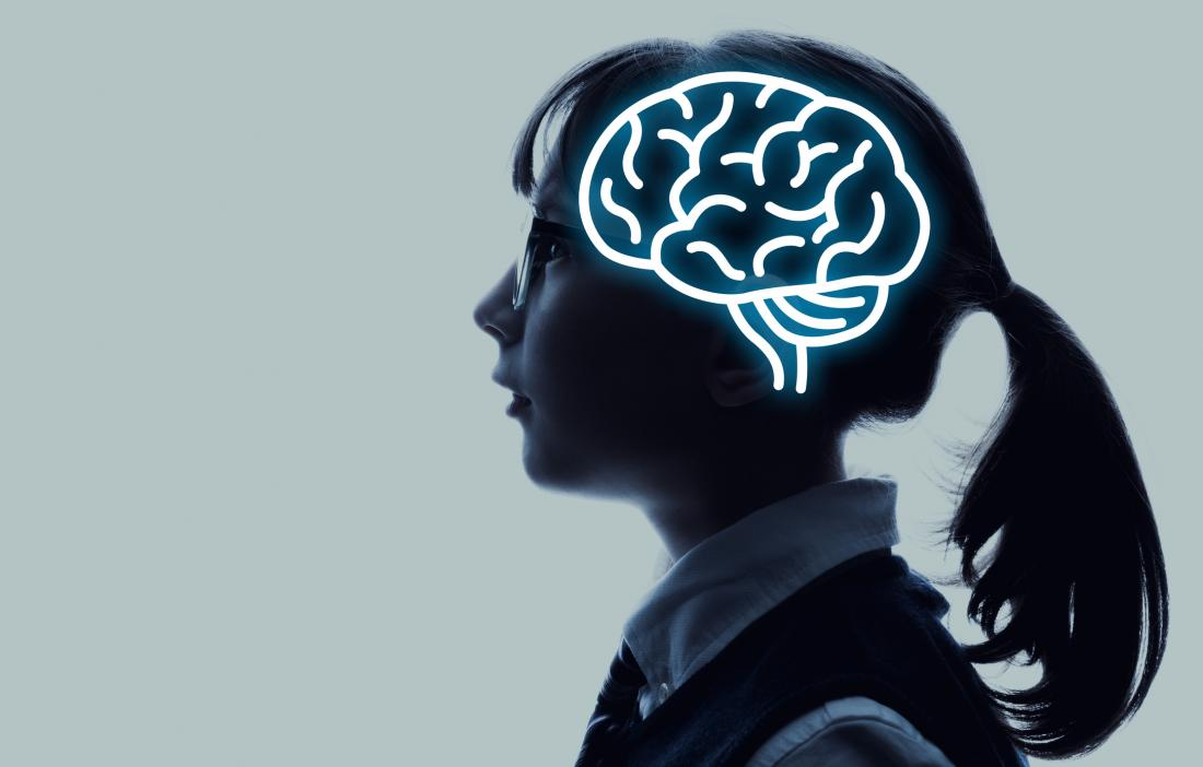 brain illustration in child
